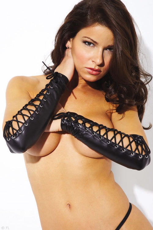 Image of Allure Allure Lace Up Leather Arm Guards