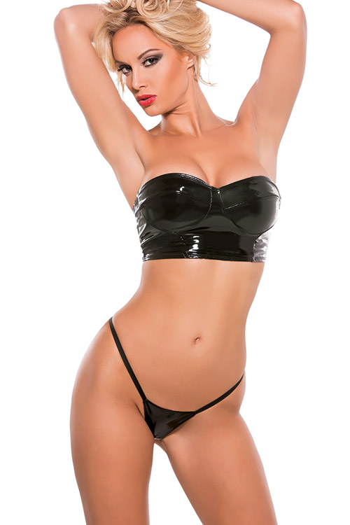 Image of Allure Allure Bandeau Crop Top with G-String