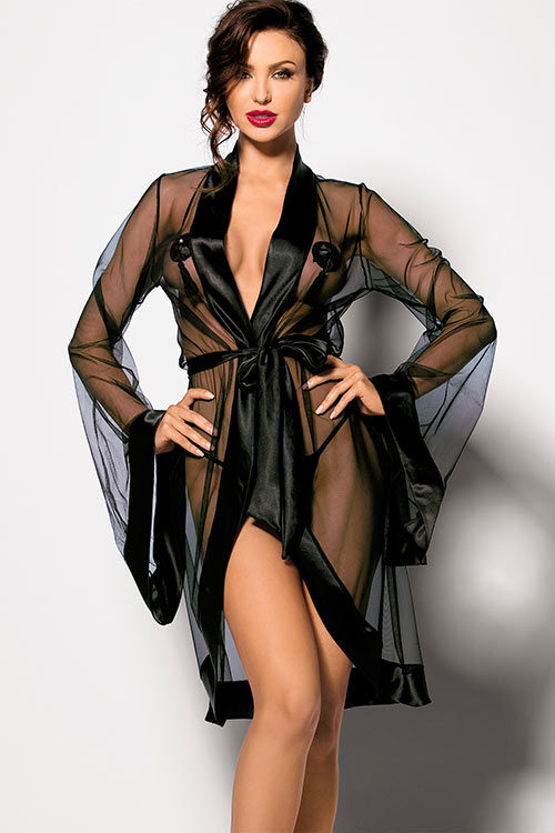Lingerie - Angels Never Sin Anthis Chiffon Robe