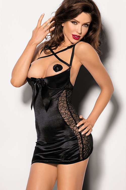 Lingerie - Angels Never Sin Pequena Open Cup Chemise