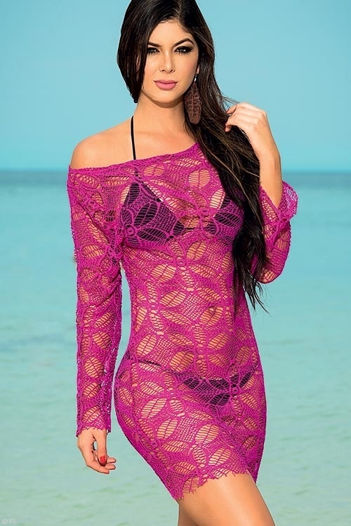 Lingerie - Mapale Swim & Beachwear Lacy Beach Cover-Up
