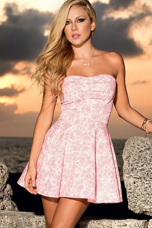 Lingerie - Mapale Swim & Beachwear Flowered Beach Mini Dress