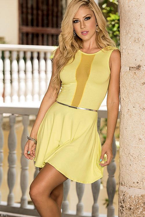 Lingerie - Mapale Swim & Beachwear Peek-a-Boo Mini Dress