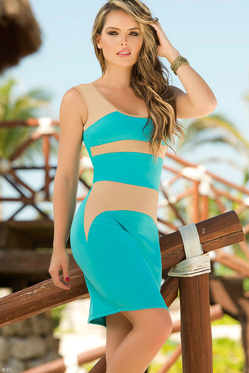 Lingerie - Mapale Swim & Beachwear Two Toned Stunning Dress