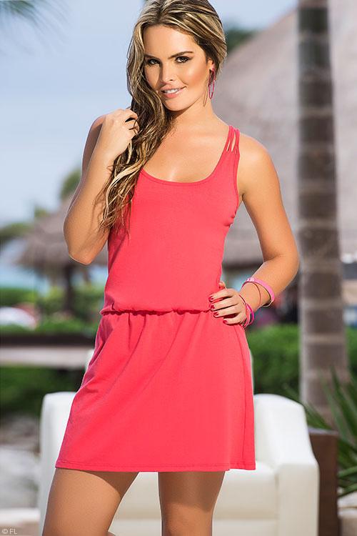 Lingerie - Mapale Swim & Beachwear String Back Beach Dress