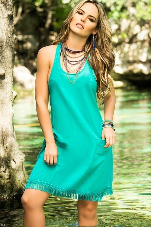 Bohemian Turquoise Tank Cover Up