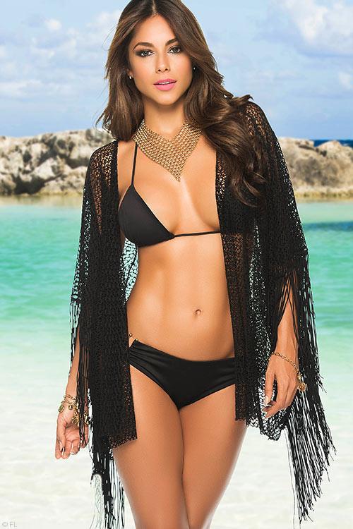 Lingerie - Mapale Swim & Beachwear Crochet Kimono