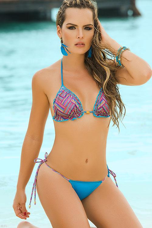 Lingerie - Mapale Swim & Beachwear 2 Pce Print Bikini with Thong Bottom