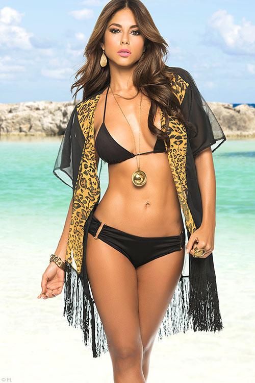 Lingerie - Mapale Swim & Beachwear Sheer Kimono