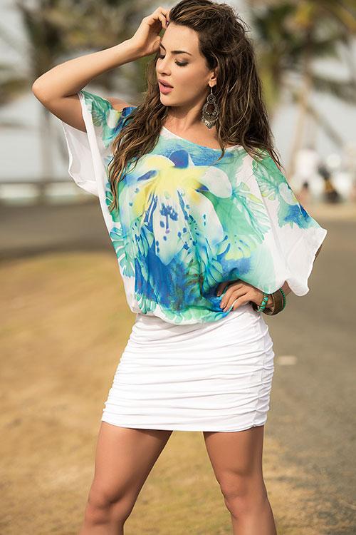 Lingerie - Mapale Swim & Beachwear Tropical Print Dress