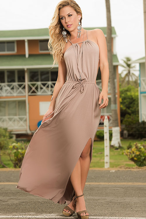 Lingerie - Mapale Swim & Beachwear Mocha Dream Maxi Dress