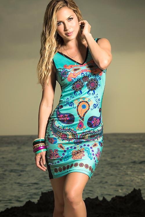 Lingerie - Mapale Swim & Beachwear Bohemian Print Dress