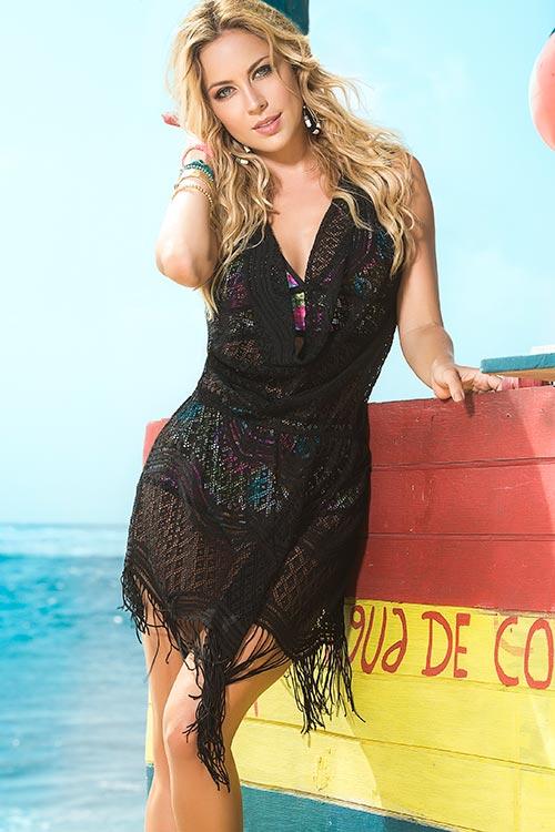 Lingerie - Mapale Swim & Beachwear Boho Chic Crochet Look Cover Up