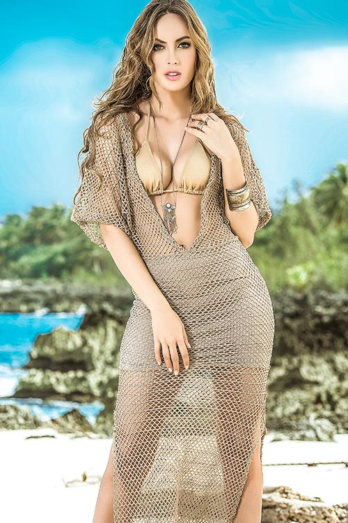 Lingerie - Mapale Swim & Beachwear Crotchet Beach Maxi Dress