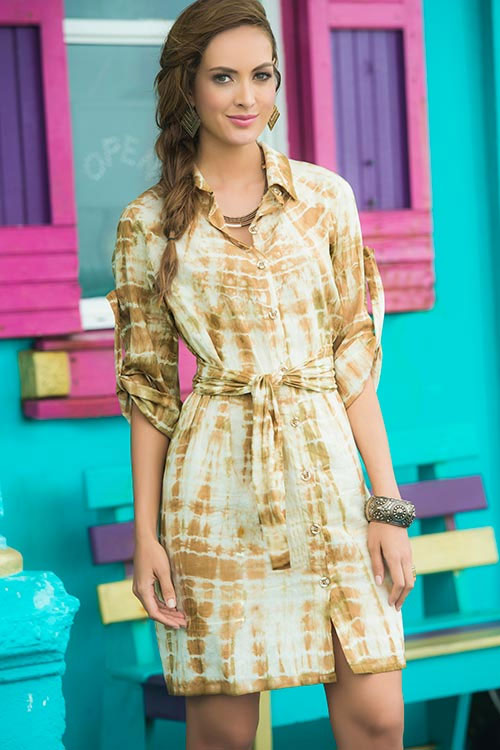 Lingerie - Mapale Swim & Beachwear Tie Dye Shirt Dress