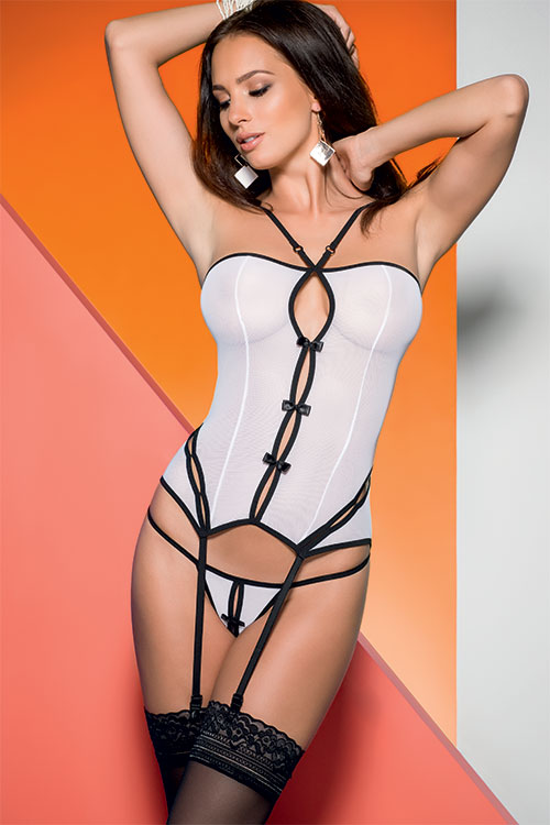 Lingerie - Avanua Sheer Corset with Thong