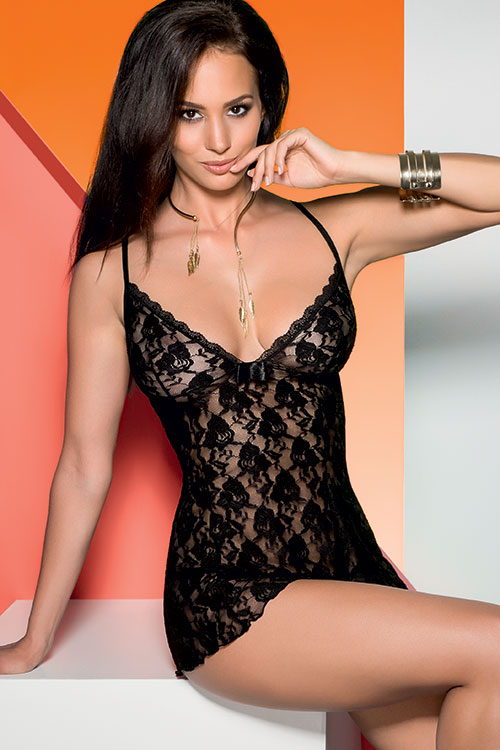 Lingerie - Avanua Daiva Lace Chemise with Thong