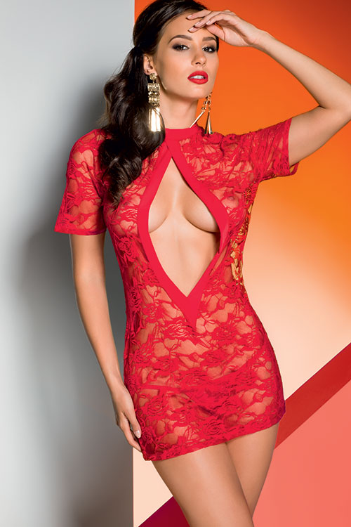 Lingerie - Avanua Lace Chemise Top with Thong