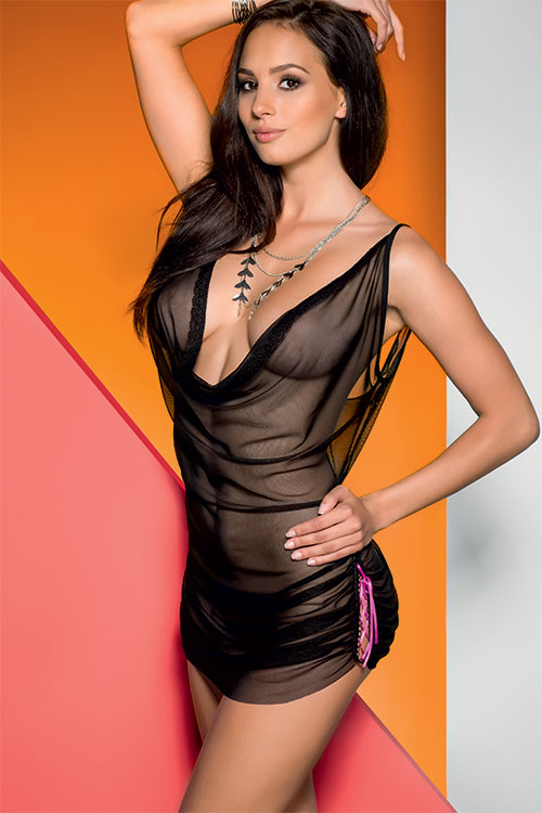 Lingerie - Avanua Ultra Sheer Chemise with Thong