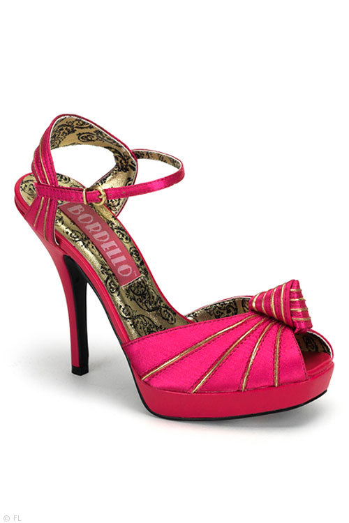 "Bordello 4 3/4"" Peep Toe Knotted Sandal"