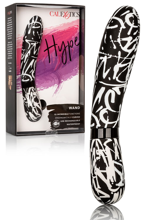 "Graffiti Curved Flexible Silicone 7.3"" Vibrator"