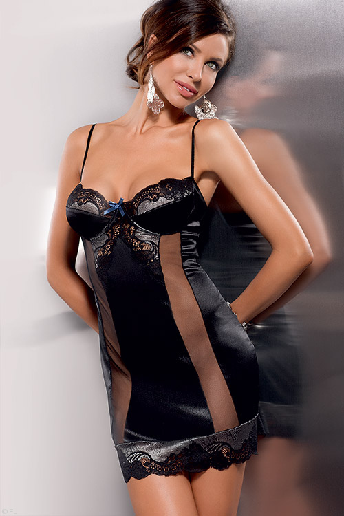 Lingerie - Casmir Alexia Luxury Chemise with G-String