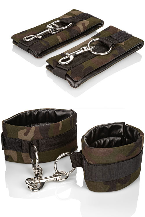 Camouflage & Vegan Leather Universal Cuffs