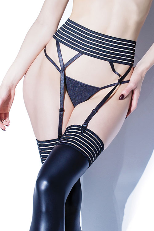 Striped Bare Garter Belt