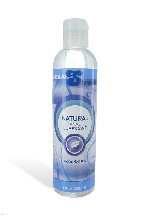 Natural Water Based Anal Lubricant (8 oz/236ml)