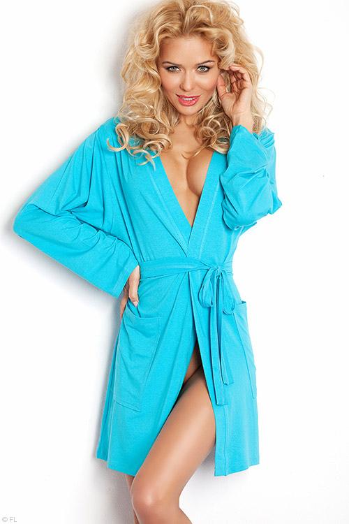Lingerie - DKaren Lightweight Jersey-Knit Robe