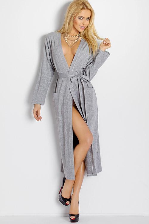 Lingerie - DKaren Lightweight Jersey-Knit Long Robe