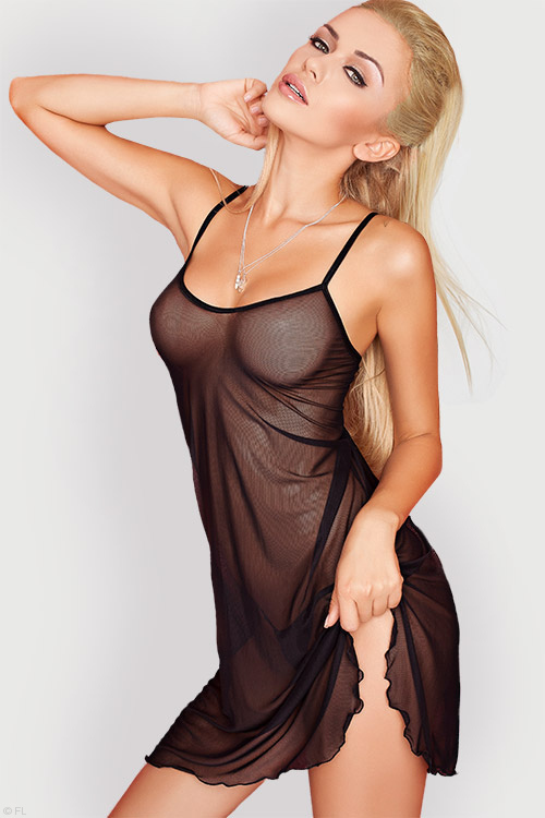 Lingerie - DKaren Sheer Babydoll with G-String