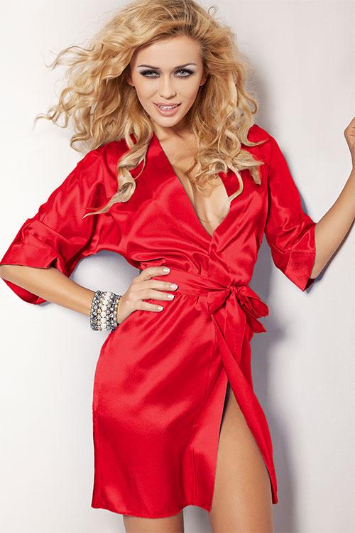 Lingerie - DKaren Luxurious Satin Robe