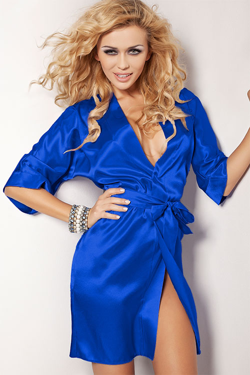 Lingerie - DKaren Luxurious Satin Robe