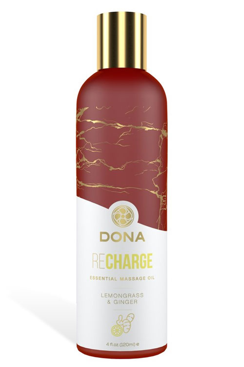 Recharge Massage Oil - Lemongrass & Ginger (120ml)