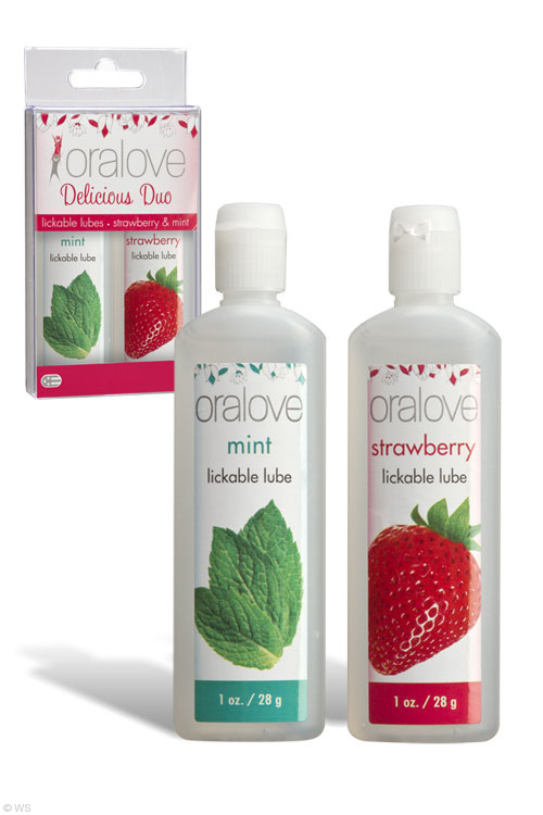Oralove Lickable Lubes - Strawberry & Mint