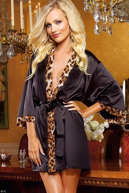 Lingerie - Dreamgirl Wild Passion Short Kimono Robe