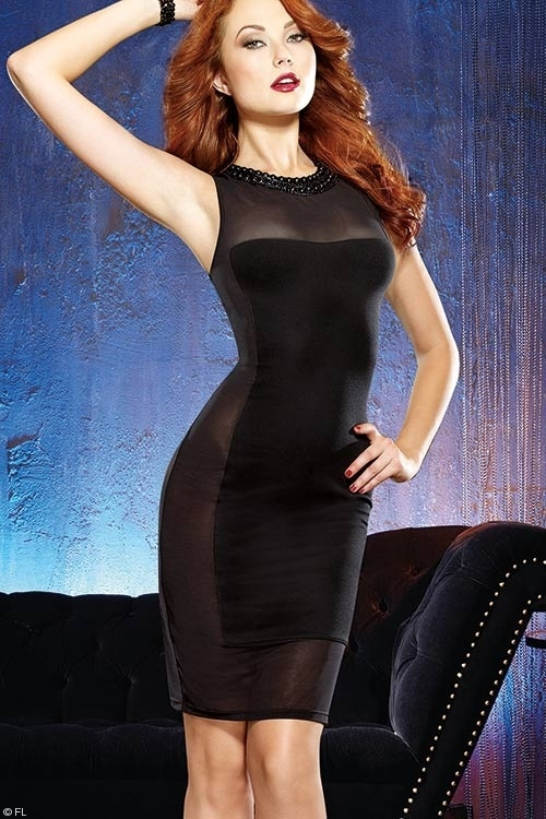 Lingerie - Dreamgirl Gin & Sin Illusion Club Dress