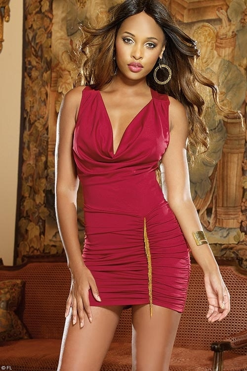 Dreamgirl Red Tonic Club Dress