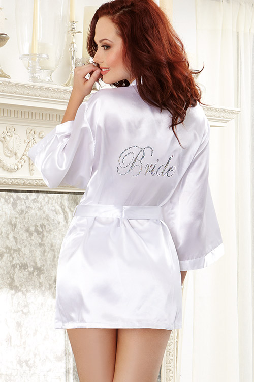Lingerie - Dreamgirl Your Truly Chemise with Robe inscribed with 'Bride'