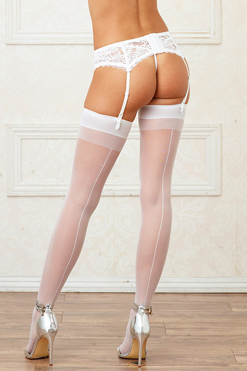 Sheer White Thigh Highs