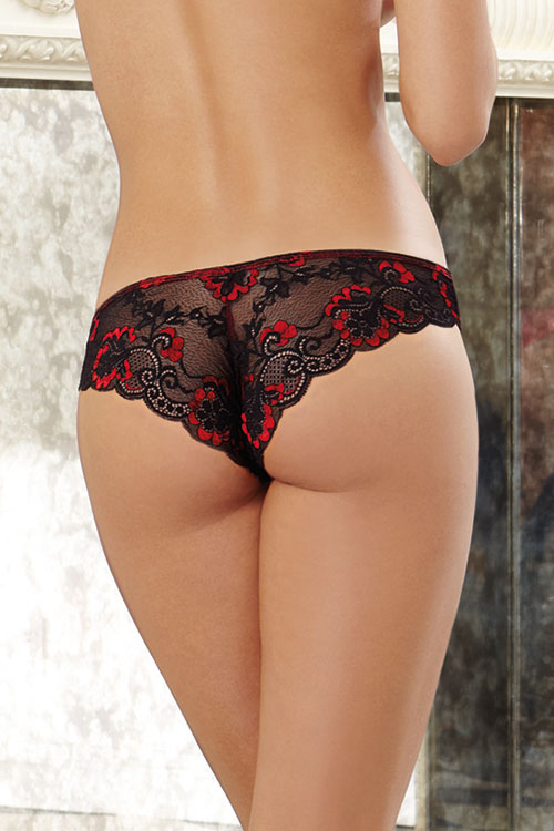 Lingerie - Dreamgirl Cross-Dye Lace Panty