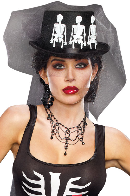 Lingerie - Dreamgirl Ms Bones Hat