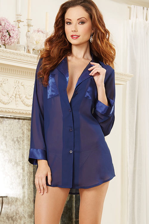 Lingerie - Dreamgirl Midnight Sleep Shirt