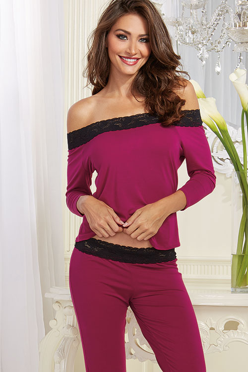 Lingerie - Dreamgirl Ultra-Soft  Sleep Shirt with Pant