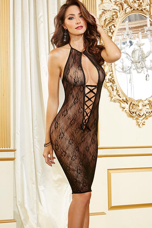 Lingerie - Dreamgirl Lace Long-Line Chemise