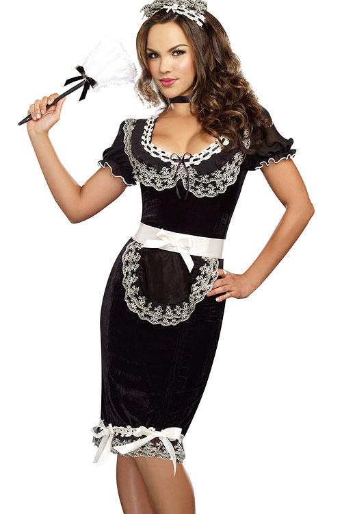 Costumes - Dreamgirl 4 Pce Maid Costume