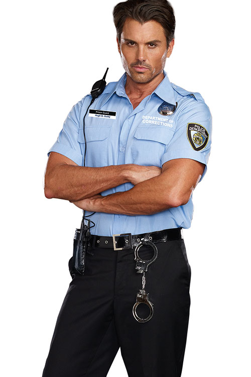 Costumes - Dreamgirl 6 Pce Prison Guard Costume