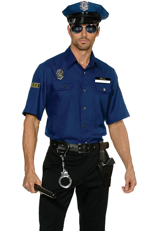 Costumes - Dreamgirl 6 Pce You're Busted Policeman Costume