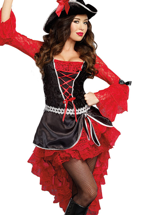 Costumes - Dreamgirl 2 Pce Pirate Costume